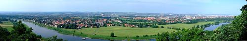 Agneshöhe - Aussicht auf Dresden - PANORAMA (groß)