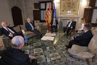 El President de la Generalitat, Ximo Puig, recibe en audiencia a directivos de Thyssenkrup Galmed. 21/02/2017.
