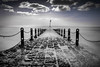 Out to sea (Nathan J Hammonds) Tags: brighton sussex monochrome nd 10stop nikon d750 clouds calm wetfeet coast