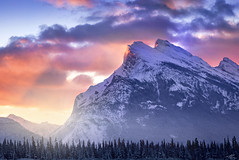 Rundle Sunrise (Modifeye) Tags: rundle banff alberta canada mountains sky sunrise sunset beautiful amazing landscape canon