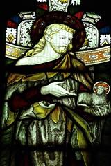 Youlgreave, Derbyshire - All Saints - Stained Glass (Glass Angel) Tags: allsaintschurch youlgreave derbyshire stjohnthebaptist stainedglasswindows stainedglass agnusdei lambofgod
