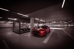 Ford meets Mercedes - Parking in Mercedes-Benz Museum - Stuttgart - Germany (R.Smrekar-CH) Tags: indoor mustang blackwhitecolor d750 000500 smrekar germany