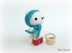 Polar Bear Fisherman (denae.amiamore) Tags: cute animals stuffed handmade crochet adorable plush yarn plushies kawaii amigurumi