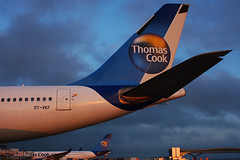 Thomas Cook Scandinavia Airbus A330 (Chris Goodwin - AirTeamImages) Tags: london sunrise canon airport airbus scandinavia palma a330 gatwick lgw thomascook pmi egkk