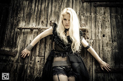 Greta-4 (marcellomasiero) Tags: venice beauty nikon blonde blackdress sexydress gothicdress nikond7000