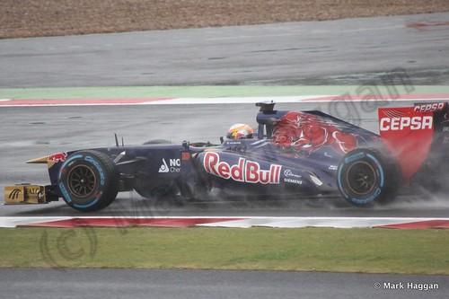 Jean-Eric Vergne in Free Practice 1 for the 2013 British Grand Prix