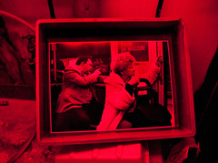 Back in the Darkroom. (Treamus) Tags: white black darkroom chemistry printing prints fibre