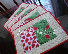 Jogo americano (Joana Teo - Artesanato & Patchwork) Tags: de go patchwork jogo americano toalhademesa toalhaamericana amaericano