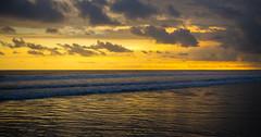 Peace - Sunset over Bali (Banteng_27) Tags: sunset sea sky bali beach clouds indonesia nikon waves horizon d600 blinkagain
