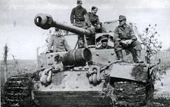 il Fw.Gresch alla guida del suo Elefant (anche se si chiamava ufficialmente ancora Ferdinand) della 1./s.Pz.Jg.Abt 653 il 1 marzo 1944 prova il suo cacciacarri , recentemnte riparato dopo l'impatto con una mina