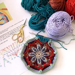 Overlay crochet potholder