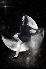 The Dark Twin (sarahshootspeople) Tags: light moon signs sign project dark stars twins space air series zodiac conceptual gemini constellations astrology thetwins katm
