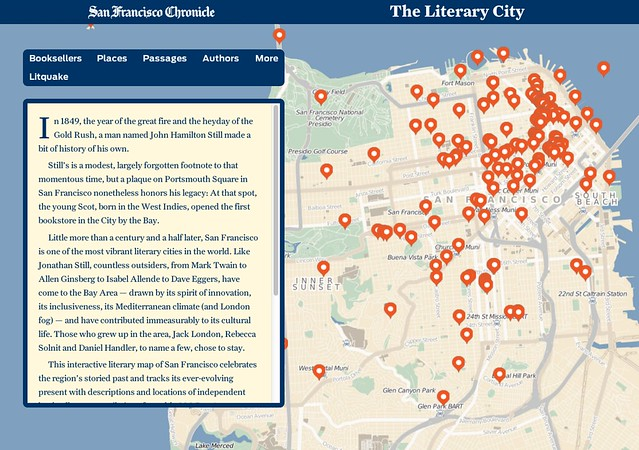 Thumbnail for Rave reviews for Chron Books' new map, The Literary City