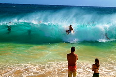 A Rough Day (PulsiferPhotos) Tags: ocean sea beach water hawaii waves pacific oahu sandy large wave hawaiian sandys hilife fail 808 awawamalu