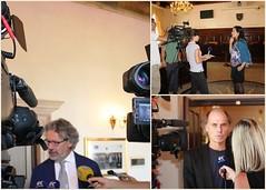 """Utrinki iz novinarskih intervjujev s predstavniki Slovenskega centra za raziskovanje samomora (prof. Diego De Leo, Vita Poštuvan) ter Univerze na Primorskem (prof. Dragan Marušič) • <a style=""""font-size:0.8em;"""" href=""""http://www.flickr.com/photos/102235479@N03/10376878493/"""" target=""""_blank"""">View on Flickr</a>"""