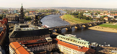 Dresden (Habub3) Tags: city travel bridge panorama holiday nature canon river germany landscape deutschland dresden search reisen europa europe stitch urlaub natur powershot historic roofs stadt fluss altstadt landschaft frauenkirche elbe vacanze g12 serach habub3 vision:sunset=0537 vision:outdoor=0654