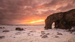 Heaven's Door (Nasbe Photography) Tags: sunset sea sky cloud mer france colors port soleil rocks arch cloudy couleurs coucher ciel nuages vagues plage blanc rochers coucherdusoleil quiberon nuageux portblanc