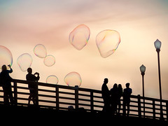 These aren't your tiny bubbles! (pixelmama) Tags: oceanside california pier oceansidepier bubbles notthetinyones clichesaturday hcs silhouettes pixelmama explore