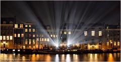 Projection light .. (Alex Verweij) Tags: light amsterdam canon licht beam projection 7d hermitage amstel gracht projectie lightfestival woonboot grachtenpanden grachtenpand woonboten stralen straal alexverweij teresamar amsterdamlightfestival
