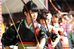 Standing by (Teruhide Tomori) Tags: portrait sports japan kyoto action traditional bow   kimono arrow bowandarrow kyudo     ef70200mmf28lis thejapaneseartofarchery   canoneos5dmark