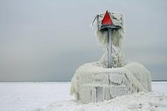 St Joseph - south pier (Notkalvin) Tags: winter lighthouse cold ice nature frozen michigan stjoseph lakemichigan icy icicles reallycold bentonharbor mikekline michaelkline notkalvin notkalvinphotography