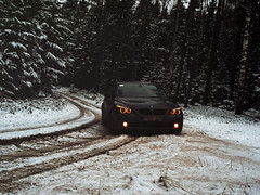 e60 (domdomas) Tags: winter snow forest diesel angry bmw bimmer e60