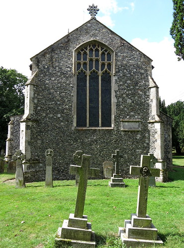 The east end of the chancel (c.1460), the Church of St Mary, Wilby, Suffolk, England