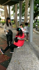 140111 weekend (jccchou) Tags: park baby kids butterfly children video toddler classmates caroline skirt teacher dna droid htc