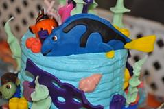 Dory Cake Topper (rikkitikitavi) Tags: cake coral seashells dessert shark nemo handmade chocolate sealife disney cupcake vanilla squirt reef dory findingnemo milkchocolate fondant buttercream frenchvanilla brucetheshark handsculpted cakeball cakepop
