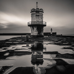 Whitehaven - Cumbria (S Howlett) Tags: longexposure blackandwhite lighthouse pier hasselblad cumbria whitehaven blackandwhitephotography distagon daytimelongexposure hasselblad500 bigstopper leebigstopper