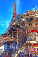 eiffel tower carousel | paris.