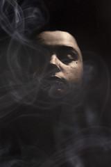 smoke (bex scerri) Tags: light white black girl female contrast photo still emily silent smoke peaceful calm nz scerri virtwali