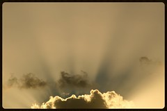Crepuscular Rays (Zelda Wynn) Tags: sunset nature weather clouds auckland rays crepuscularrays goldensunlight westauckland zeldawynnphotography tropopsphere