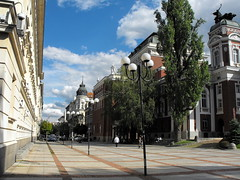 Sofia, Bulgaria in May (Stella VM) Tags: street city blue trees sky streets green architecture buildings spring europe sofia bulgaria