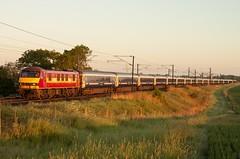 90035. 1M16. Egmanton.26.5.14 (deltic17) Tags: scotrail skoda eastcoastmainline sleepertrain ecml class90 90035 scotrailsleeper 1m16 divertedsleeper aberdeenfortwilliaminverness