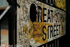 The Vandalised Street (Lewis Adams Photography) Tags: urban sign manchester photography graffiti nikon adams d70 nikond70 d70s lewis nikond70s vandalism af nikkor tamron 2014 afnikkor dibaday