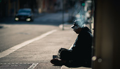 Smoking (Keepsaix) Tags: street norway sadness sad candid streetphotography bergen cinematic photgraphy