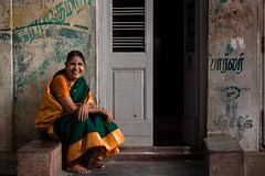(Akilan T) Tags: old people woman india smile traditional tamil tamilnadu cwc carfestival triplicane parthasarathytemple chennaiweekendclickers cwc456