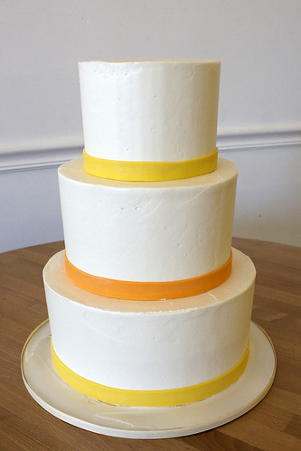 Simple Buttercream Wedding with Colorful Ribbon Trim