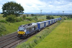 Photo of 68006 4A13 11:45 Grangemouth TDG Siding - Aberdeen Craiginches; Gallamuir Farm, Plean; 26-07-2015