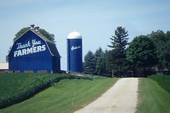 Thank You Farmers.....{Explored} 8 - 7 - 2015 (novice09) Tags: building sign barn rural countryside farm silo culvers ipiccy