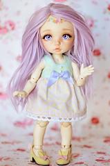 Periwinkle says Hi! ♥ (Shimiro Kestrel) Tags: bjd doll pukifee ante fairyland pukifeeante cute tiny kawaii bjdphotography bjdportrait bjdcustom dollphotography pastel pastelgirl fairy
