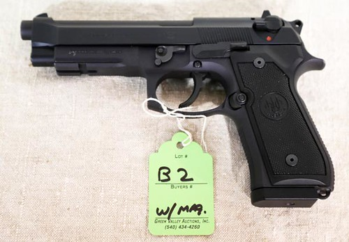 Beretta Model 92FS, 9mm Parabellum Pistol with Internal Laser Max Sight ($924.00)