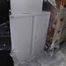 Low 2 door metal storage cabinet