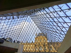 Under The Pyramid (crashcalloway) Tags: museedulouvre louvre museum pyramid glass impei architecture paris france lines
