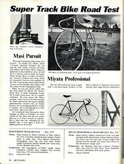 Bicycling! Super Track Bike Road Test   July 1975  p-28 -sjk (kurtsj00) Tags: bicycling super track bike road test july 1975 masi miyata
