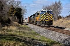 Citi rail on NS 111. (Machme92) Tags: crex railroad railfanning railroads railfans rails rail row railroading railfan trains trainrace tracks ns norfolksouthern norfolk ge gevo missouri sky