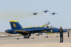 Blue Angels (Trent Bell) Tags: lancaster foxairfield airport losangelescounty airshow 2016 california blueangels fa18 f18 hornet navy boeing aircraft