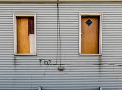 Door Windows (BradPerkins) Tags: interesting abandonedhouse doors recycling keepout urbanlandscape windows strange 3942troy