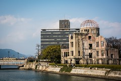 The Atomic Bomb dome, which is where the bomb exploded directly above the building which destroyed the city of Hiroshima but this building was relatively unscathed. (tommcshanephotography) Tags: abomb asia atomicbomb cenotaph hiroshima japan memorial travel ww2 war bomb